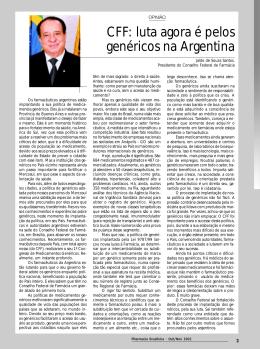 luta agora é pelos genéricos na Argentina