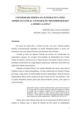 universidade federal da integração latino