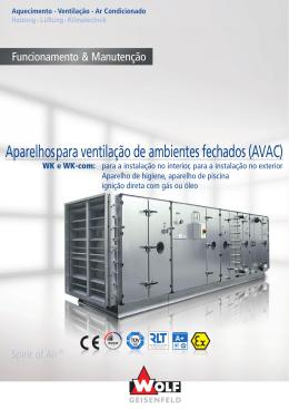 Aparelhos para ventilação de ambientes fechados (AVAC)