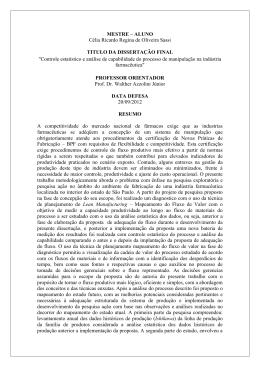 MESTRE – ALUNO Célia Ricardo Regina de Oliveira Sassi TITULO