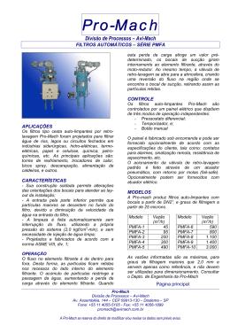 Filtros Automáticos – Série PMFA
