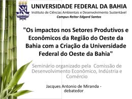 Criação da Universidade Federal do Oeste da Bahia