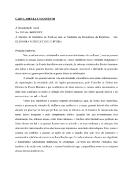 CARTA MANIFESTO - Instituto Socioambiental