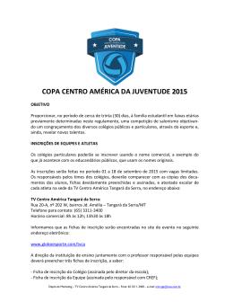 Leia o Regulamento - Copa da Juventude 2015