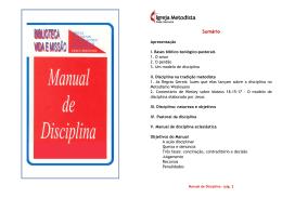 Manual de Disciplina - Igreja Metodista do Brasil