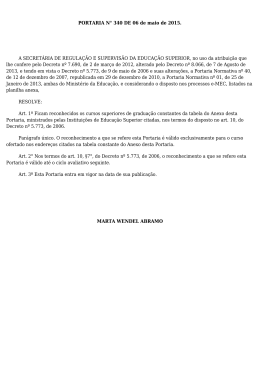 Portaria MEC nº 340 de 06 de maio de 2015