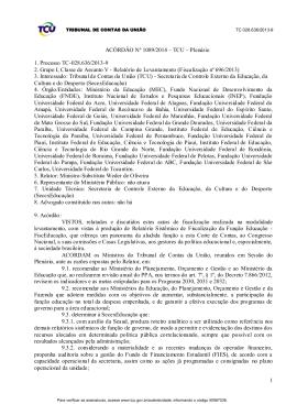 1 ACÓRDÃO Nº 1089/2014 – TCU – Plenário 1