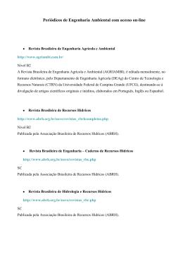 Periódicos de Engenharia Ambiental com acesso on-line