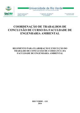Regimento TCC - Universidade de Rio Verde