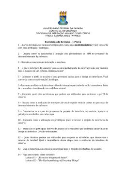Exercícios de Revisão - Tatiana Aires Tavares