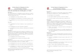 Lista de exercícios de revisão para o 1o teste