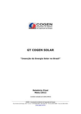 Inserção da Energia Solar no Brasil