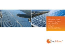 líder mundial em soluções de energia solar fotovoltaica