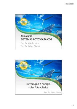 Minicurso Sistemas Fotovoltaicos
