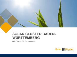 SOLAR CLUSTER BADEN- WÜRTTEMBERG