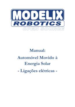 Manual Automóvel Movido à Energia Solar ligações elétricas