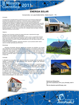 Mostra Científica 2011: Energia Solar - JP Norte