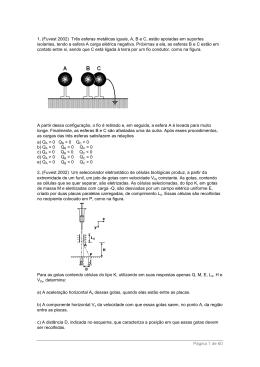 Página 1 de 60 1. (Fuvest 2002) Três esferas metálicas iguais, A, B