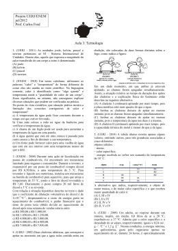 UERJ - Termologia - Professor Walter Tadeu