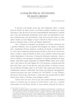 11 - A exação fiscal no Estado de Mato Grosso