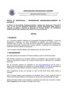Universidade Anhanguera Uniderp - Polos