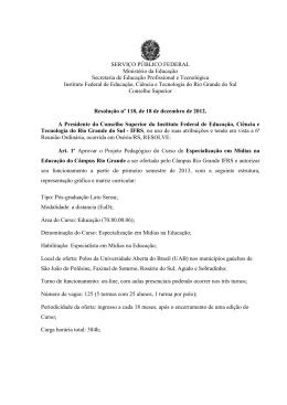 Resolução n° 118