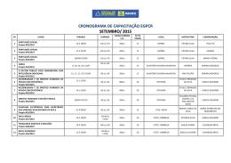 cronograma de capacitação egpcr setembro/ 2015