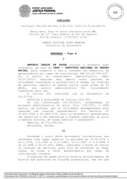JUSTIÇA FEDERAL JUSTIÇA FEDERAL CONCLUSÃO Processo