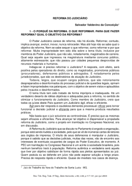 REFORMA DO JUDICIÁRIO Salvador Valdevino