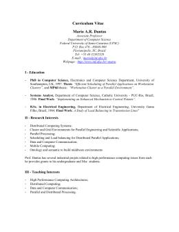 Curriculum Vitae Mario A.R. Dantas