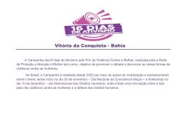 programação completa - Prefeitura Municipal de Vitória da Conquista