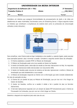 Trabalho 3 - Departamento de Informática da Universidade da Beira