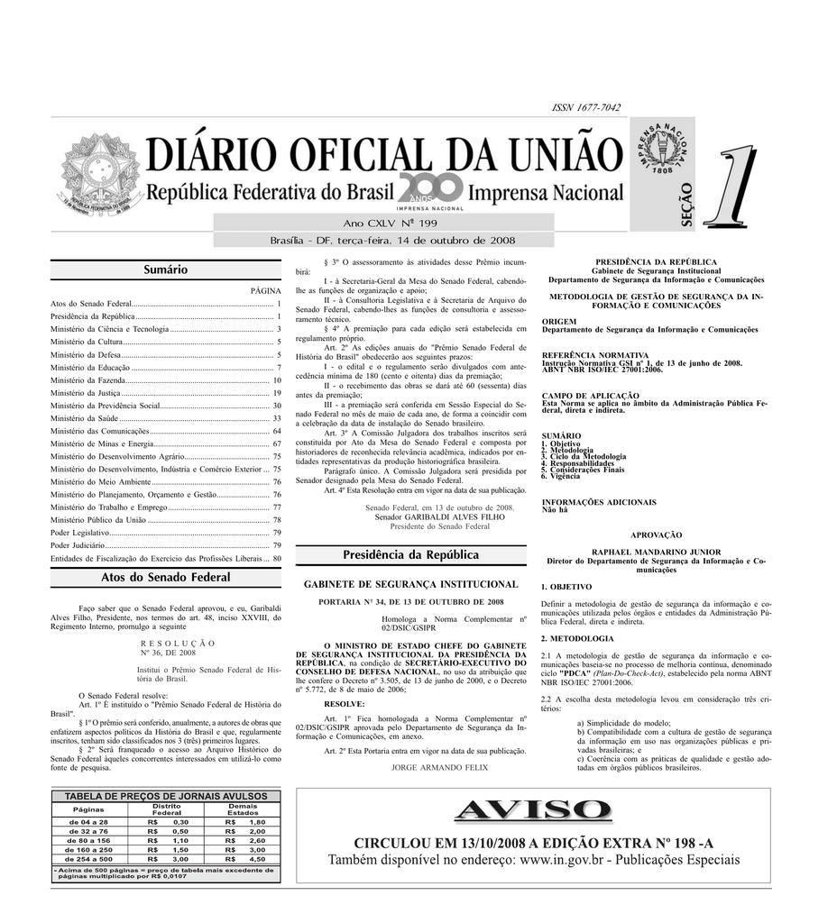 sumário atos do senado federal presidência da58962 Hermespardini Com Br Resultado De Exames #17