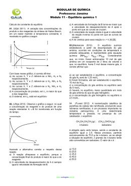 Equilíbrio químico 1