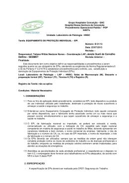 B 01 - Uso de EPIs - Grupo Hospitalar Conceição
