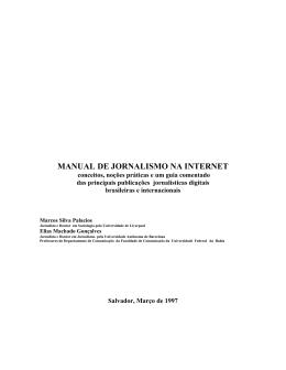 manual de jornalismo na internet - Faculdade de Comunicação da