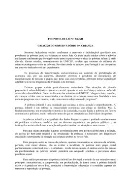 PROPOSTA DE LEI N.º 346/XII CRIAÇÃO DO OBSERVATÓRIO DA