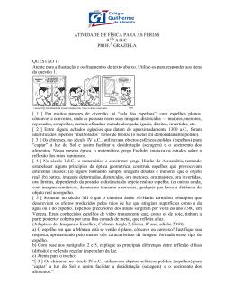 física - Colégio Guilherme de Almeida