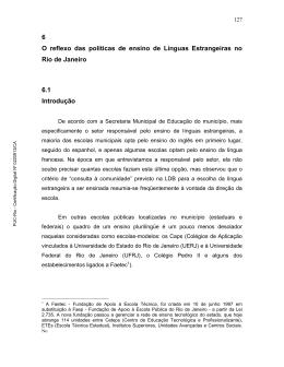 6 O reflexo das políticas de ensino de Línguas Estrangeiras no Rio
