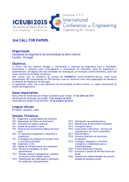 2º Call for Papers