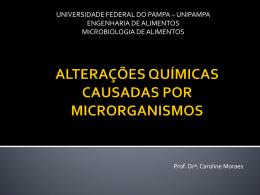 alterações químicas causadas por microrganismos
