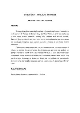 DORIAN GRAY - A MOLDURA DA IMAGEM Fernando César Faria