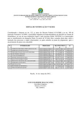 Edital de Notificação 02 - Ibama PE 16-03-2012