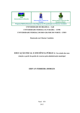 Erivan Ferreira Borges - Repositório Institucional da UnB