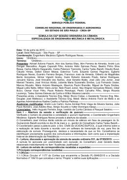 Sumula RO CEEMM n 532 - 18.06.2015 (BRUNO) - Crea-SP