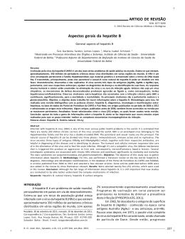 ARTIGO DE REVISÃO Aspectos gerais da hepatite B