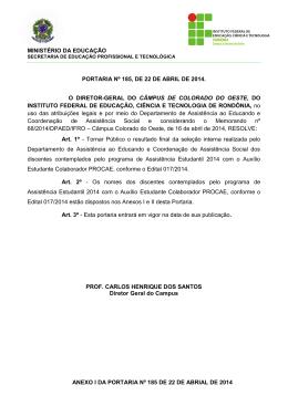 PORTARIA Nº 185/2014