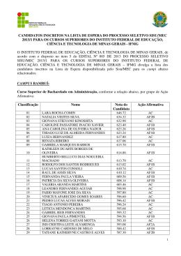 Lista de espera Sisu/MEC/2013-1