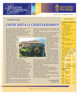 ITA 2 DE AGOSTO 2015.indd - Igreja Batista Itacuruçá