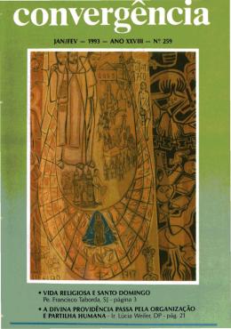 jan/fev - 1993 - ano xxviii - n~ 259 • vida religiosa e